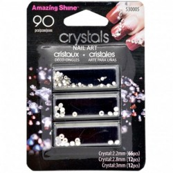 Amazing shine - Strass Décoration Ongles Crystal - 90 pièces