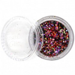 Amazing shine - Paillettes Nail Art Golden Red 576
