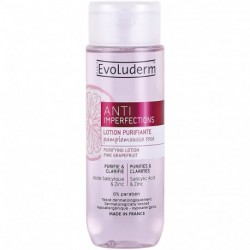 Evoluderm - Lotion Purifiante Anti-Imperfections Au Pamplemousse Rose - 200ml