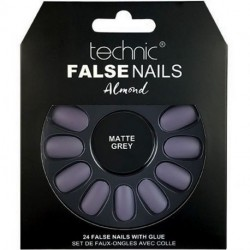 technic - Faux ongles Almond - Matte Grey