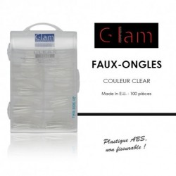 Glam Cosmetiques - Faux ongles clear - 100 pcs