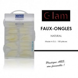 Glam Cosmetiques - Faux ongles natural - 100 pcs