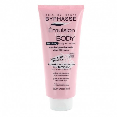 Byphasse - Home Spa Experience - Emulsion Douceur Corps - Peaux sensibles - 350ml